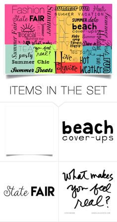 """Happy Summer Collage"" by ljbminime ❤ liked on Polyvore featuring art"