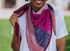 The Carillon Shawl, a lightweight mesh summer wrap - TL Yarn Crafts TL Yarn Crafts – free crochet pattern Archives – Page 2 of 4 – TL Yarn Crafts One Skein Crochet, Crochet Scarves, Free Crochet, Crochet Blankets, Crochet Ideas, Crochet Patterns, Colored Rope, Summer Wraps, Crochet Shawls And Wraps