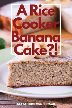 This rice cooker banana cake recipe is a must try! Rice Cooker Banana Bread Recipe, Rice Cooker Cheesecake, Rice Cooker Cake, Aroma Rice Cooker, Best Rice Cooker, Rice Cooker Recipes, Banana Bread Recipes, Rice Recipes, Cooking Recipes