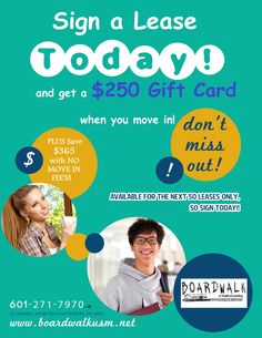 Get a $250 Gift Card!