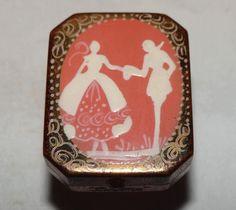 "1920s Art Deco ""Divine"" Ladies Enamel Silhouette Miniature Glove Powder Compact   eBay"