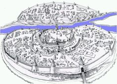 A drawing of Novgorod