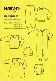 419 Gul-dock, mönster för mjuka tyger till dockor via Marianns Systuga. Click on the image to see more!