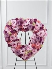 Flower Funeral Heart Wreath at Send Flowers. Pink heart funeral arrangement and heart shaped funeral wreath for funeral flower delivery in the United States. Avas Flowers, Get Well Flowers, Pink Flowers, Purple Roses, Pink Carnations, Pink Hydrangea, Lavender Roses, Funeral Arrangements, Flower Arrangements