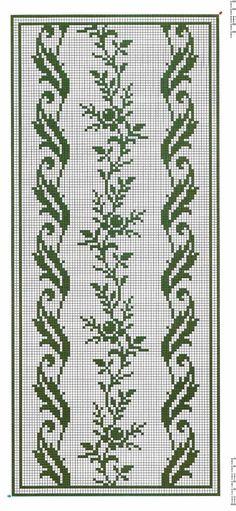 Crochet Border Stitch I'd do it in a different colour. Funny Cross Stitch Patterns, Crochet Stitches Patterns, Weaving Patterns, Cross Stitch Designs, Knitting Patterns, Cross Stitch Rose, Cross Stitch Borders, Cross Stitch Flowers, Cross Stitching