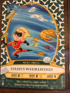 Walt Disney World Sorcerers of the Magic Kingdom Card #44 Dash's Whirlwind