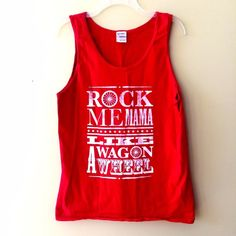 ❤️❤️ WAGON WHEEL TANK TOP Medium. Fading on writing but it's supposed to be like that. Only worn once   **bundles save 10%** no holds/no trades/no modeling/no asking for lowest Tops Tank Tops