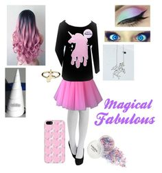 """Halloween Costume Idea {Unicorn}"" by anime-loverx on Polyvore"