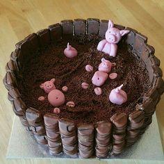 Yummy as a pig in mud cake