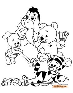 Baby Pooh Printable Coloring Pages | Disney Coloring Book