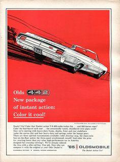 1965 Oldsmobile 442 Advertisement Road & Track February 1965 | Flickr - Photo Sharing!