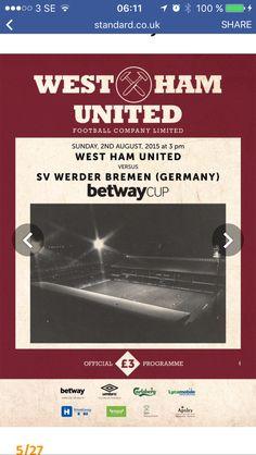 West Ham United Fc, Bremen Germany, The Unit