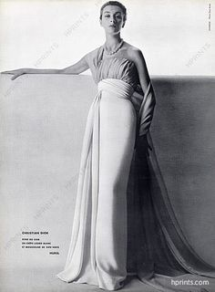 Christian Dior 1953 Evening Gown 3a69211480c