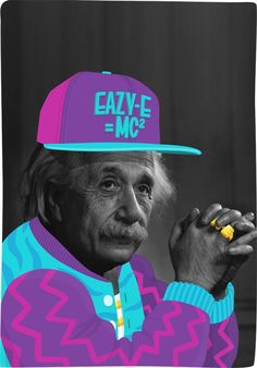 Einstein: The Illest Physicist print by Mason London. Digital print on 165 gsm paper with a Matte finish. Print x in Also Available: - Mini - x Albert Standing - Small - x Albert Standing - Medium - x Albert Standing Please allow 3 weeks for shipping. Mode Collage, Collage Art, Collage Illustrations, Illustration Art, Critique D'art, Mode Poster, Hip Hop, Sweet Station, E Mc2