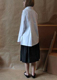 fb79ec21705 Блузки ручной работы. Заказать Рубашка белая. Хлопок. NatashaPankevich  (uNatu). Ярмарка
