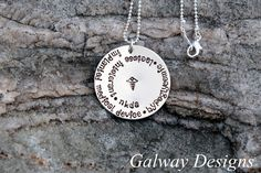 Cute especially if you have more than one issue! Hand Stamped - MEDICAL ID ALERT Necklace