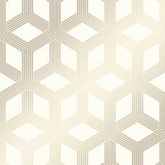 Hexa Geometric Wallpaper Cream, Gold - Wallpaper from I Love Wallpaper UK Cream And Gold Wallpaper, Rose Gold Wallpaper, Waves Wallpaper, Trellis Wallpaper, Damask Wallpaper, Brick Wallpaper, Glitter Wallpaper, Vinyl Wallpaper, Wallpaper Samples