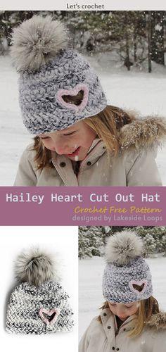 cf198b56ffc Hailey Heart Cut Out Hat Crochet Free Pattern