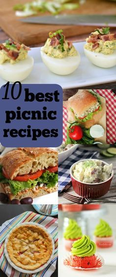 Best Picnic Recipes   by Renee's Kitchen Adventures - 10 best picnic recipes including sandwiches, salads, and desserts