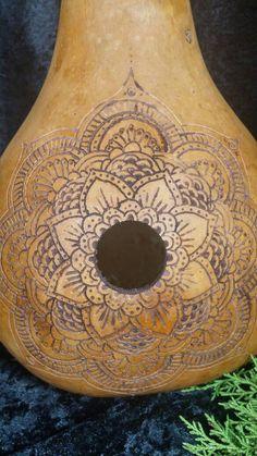 Henna Mandala Gourd Birdhouse