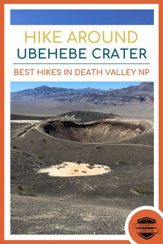 Desert hiking around Ubehebe Crater at Death Valley National Park. This is the perfect hike for a one day trip in Death Valley. Death Valley National Park, Rocky Mountain National Park, Yellowstone National Park, California National Parks, National Parks Usa, Southern California, Honduras Travel, Thailand Travel, One Day Trip