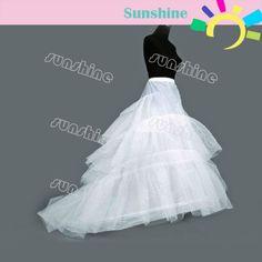 Novas Branco 3 Camadas Tulle Hoop vestido de casamento nupcial saia crinolina  U$ 17.89