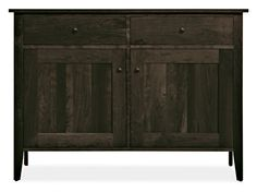 The Adams storage collection brings the simple elegance of Shaker design into the modern home, with details like tapered legs and frame-and-panel doors. Each cabinet is handcrafted from solid wood and signed by the West Virginia artisans who built it.