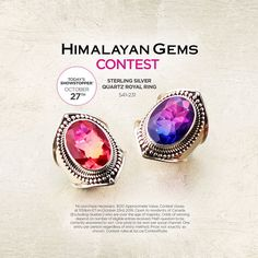 Enter the new contest on the Shopping Channel Facebook page. Here >>>TSC.CA #TodaysShowstopper Contest: Win Himalayan Gems ($120) The Shopping Channel, Contests Canada, Royal Rings, Win Prizes, Shopping Spree, Himalayan, Gems, This Or That Questions, Facebook