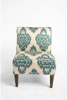 ikat print chair. swoon.