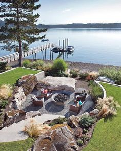 Did you want make backyard looks awesome with patio? e can use the patio to relax with family other than in the family room. Here we present 40 cool Patio Backyard ideas for you. Outdoor Seating Areas, Outdoor Rooms, Outdoor Gardens, Outdoor Living, Outdoor Patios, Garden Seating, Outdoor Kitchens, Lake Landscaping, Fire Pit Landscaping Ideas