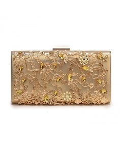 Large Womens Noble Evening Clutch Bag Wedding Purse Bridal Prom Handbag  Party Bag - Gold - CY18399YZ0E 58731bd81095d