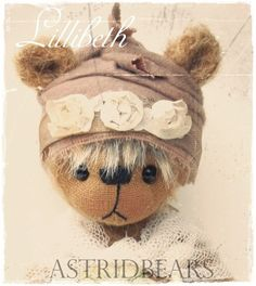 artist bear pattern Lillibeth 8.5 inch by by Astridbears on Etsy, $13.00