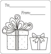 christmas gift tags to color free printable gift tags for kids to