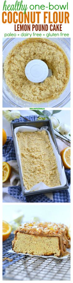 Quick & Easy Lemon & Coconut Flour Pound Cake. An easy one-bowl paleo cake ready in 10 minutes in the blender. 100% dairy free & gluten free.