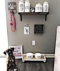 puppy room ideas spaces bedrooms * puppy room ideas spaces & puppy room ideas spaces decor & puppy room ideas spaces bedrooms & puppy room ideas spaces built ins & puppy room ideas diy spaces Animal Room, Animal Decor, Dog Bedroom, Room Ideas Bedroom, Dog Room Decor, Pet Decor, Dog Station, Dog Feeding Station, Puppy Room