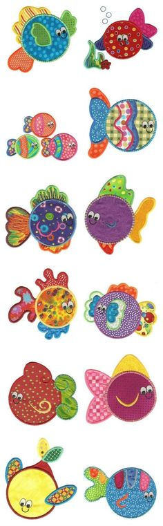 Embroidery | Free Machine Embroidery Designs | Fishies Applique
