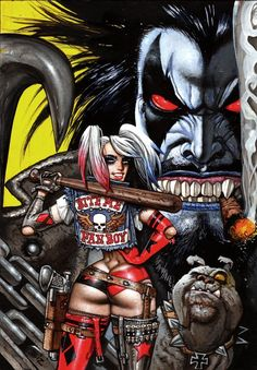 Lobo & Harley Quinn by Simon Bisley