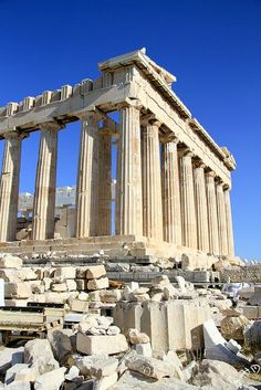 Parthenon - Athens, Greece / The Parthenon is a temple on the Athenian Acropolis, dedicated to the maiden goddess Athena, whom the people of Athens considered their patron. Its construction began in 447 BC when the Athenian Empire was at the height of its power.