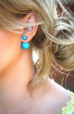 Peek-A-Boo Stone Earrings