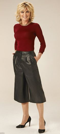 Not sexy: Faux leather culottes, £45, asos.com Top, £29.99, zara.com Shoes, £29.50, debenhams.com