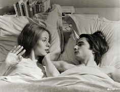 Claude Jade and Jean-Pierre Léaud in Domicile conjugal (Bed and Board), 1970, directed by François Truffaut.
