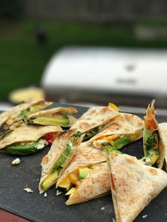 Grilled Vegetarian Quesadilla's | VEGETARIANRECIPECENTER.COM   Step up your Quesadilla game with this how to video.