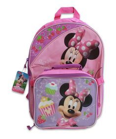 Look what I found on #zulily! Pink Minnie Mouse Backpack & Lunch Bag #zulilyfinds