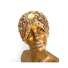CLEOPATRA TURBAN ❤ liked on Polyvore featuring accessories, hats, dressy hats, turban hat, fancy hats and spike hat