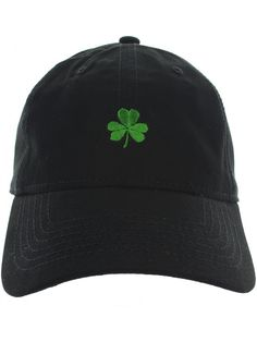 St. Patrick s Day Clover Dad Hat Baseball Cap Shamrock Hat Embroidered in  USA Shamrock Cap Collection - Black - CT17WX9SDNQ 372efb6eb6c8