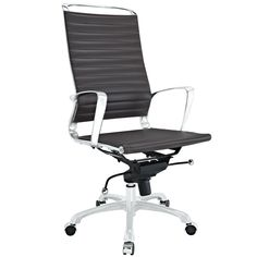 LexMod Tempo Highback Office Chair, Brown