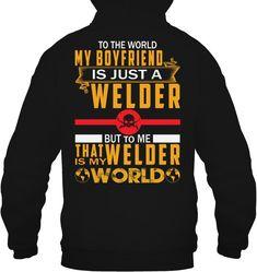 #weldeverydamnday #womenwelder #femalestrong #metalart #metalwork #womenwhoweld #weldernation #millerwelders #linconelectric #bluecollar #weld #welder #sheetmetal #cwg #bluedemonweld #independenceday #picoftheday #weldingmostwanted Cool Hoodies, Cool T Shirts, Miller Welders, Bikers, 2 Colours, My Boyfriend, My World, Metal Working, Cool Designs
