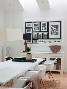 Decorar con Fotos un Comedor Moderno - http://www.decorationtrend.com/home-design/decorar-con-fotos-un-comedor-moderno/