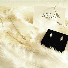 Collection Plume disponible sur le site www.asoabijoux.com