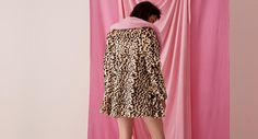 Swing coat in luxe faux fur Contrasting shawl collar. Button through front closure. Contrast pink satin l Leopard Coat, Velvet Heart, Lazy Oaf, Swing Coats, Pattern Cutting, Pink Satin, Trendy Outfits, Gift Guide, Faux Fur